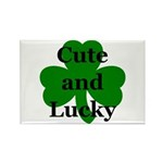 Cute and Lucky Shamrock Rectangle Magnet (100 pac