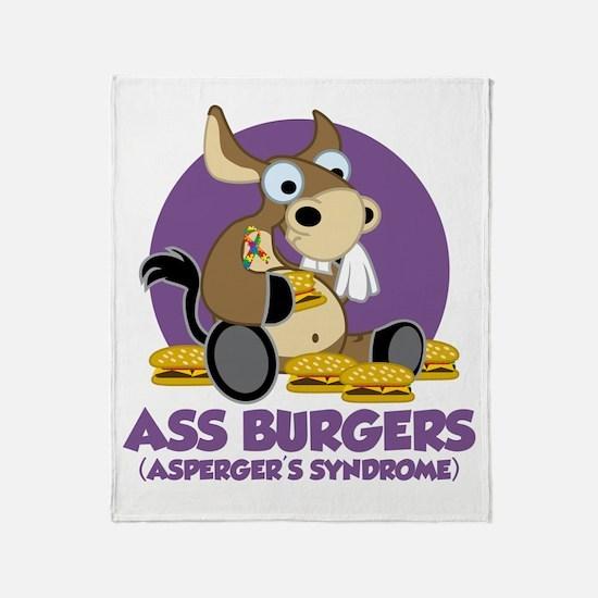 Aspergers-Donkey-blk Throw Blanket