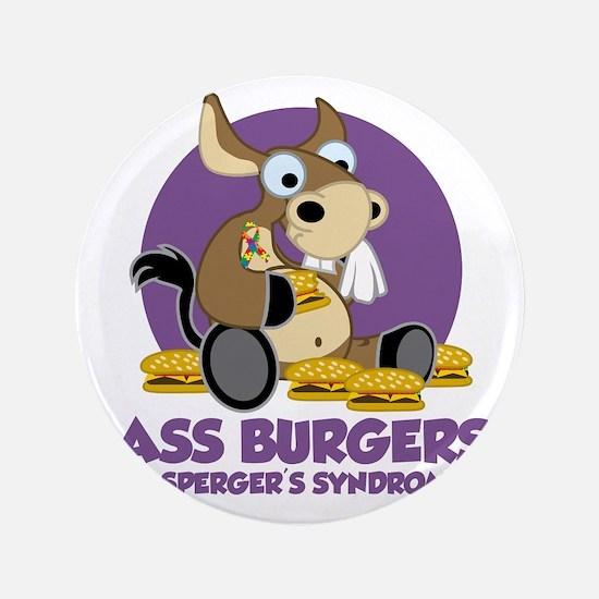 "Aspergers-Donkey-blk 3.5"" Button"
