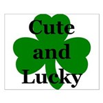 Cute and Lucky Shamrock Small Poster