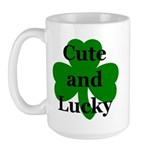 Cute and Lucky Shamrock Large Mug