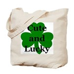 Cute and Lucky Shamrock  Tote Bag