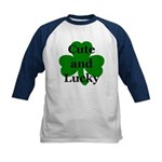 Cute and Lucky Shamrock Kids Baseball Jersey