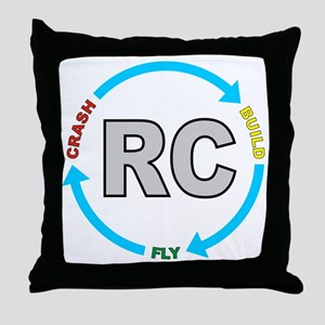 build crash fly Throw Pillow
