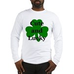 Cute and Lucky Shamrock Long Sleeve T-Shirt