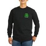 Cute and Lucky Shamrock Long Sleeve Dark T-Shirt