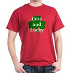 Cute and Lucky Shamrock Dark T-Shirt