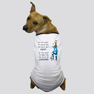 SoccerDogKIdding LarryCaps Dog T-Shirt