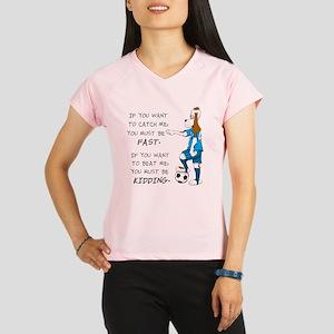 SoccerDogKIdding LarryCaps Performance Dry T-Shirt