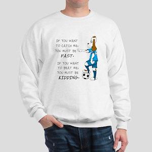 SoccerDogKIdding LarryCaps Sweatshirt