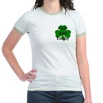 Cute and Lucky Shamrock Jr. Ringer T-Shirt