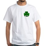 Cute and Lucky Shamrock White T-Shirt
