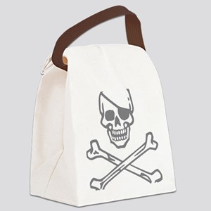 Skull Rapskallion Canvas Lunch Bag