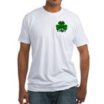 Cute and Lucky Shamrock Fitted T-Shirt