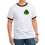 Cute and Lucky Shamrock Ringer T