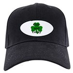 Cute and Lucky Shamrock Black Cap