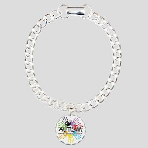 Autism-Handprint2011 Charm Bracelet, One Charm