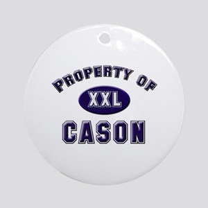 Property of cason Ornament (Round)