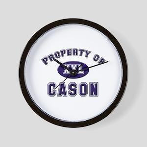 Property of cason Wall Clock