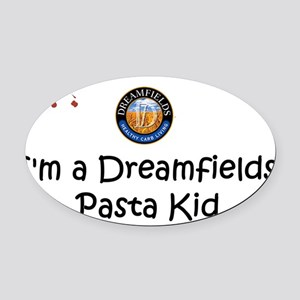 DRM_PASTA_KID Oval Car Magnet