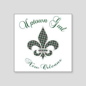 "Uptown Girl-2 Square Sticker 3"" x 3"""