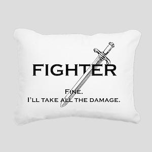 fightterfinblack Rectangular Canvas Pillow