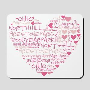 HeartWordle Mousepad