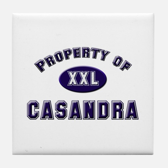 Property of casandra Tile Coaster