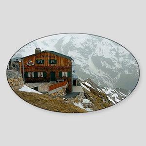 Alpine house germany Sticker (Oval)