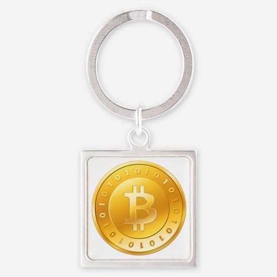 bitcoin-225 Square Keychain