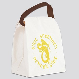 yellow silat tans- Canvas Lunch Bag