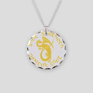 yellow silat tans- Necklace Circle Charm