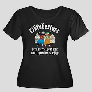 oct239da Women's Plus Size Dark Scoop Neck T-Shirt