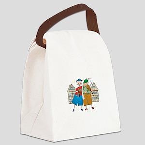 oct239dark Canvas Lunch Bag