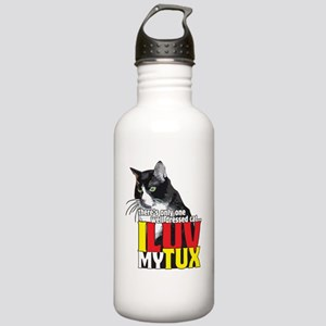 I Love My Tuxedo Cat T Stainless Water Bottle 1.0L
