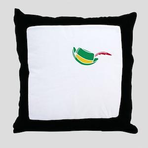 oct235black Throw Pillow
