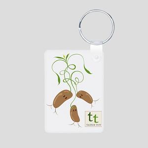 Tater Tot Aluminum Photo Keychain