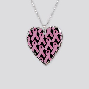 PinkRibbonWHero460ipP Necklace Heart Charm
