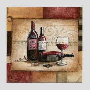 wine and chocolate 2 Tile Coaster