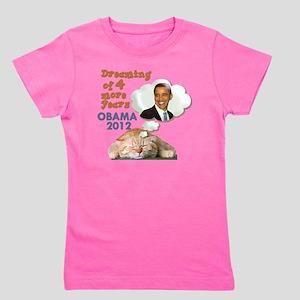 obama-cat Girl's Tee