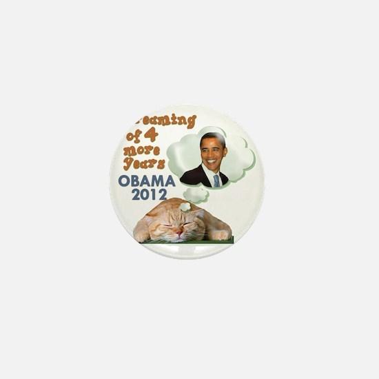 obama-cat Mini Button