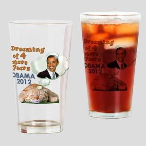 obama-cat Drinking Glass