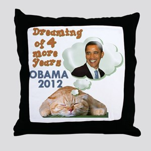 obama-cat Throw Pillow
