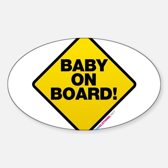 Baby On Board Sticker (Oval)