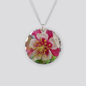 Columbine II Necklace Circle Charm