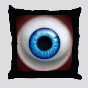 16x16_theeye_electric Throw Pillow