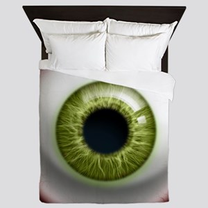 16x16_theeye_green Queen Duvet