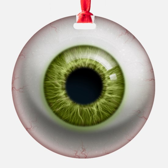 16x16_theeye_green Ornament