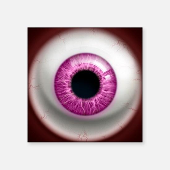 "16x16_theeye_pink Square Sticker 3"" x 3"""