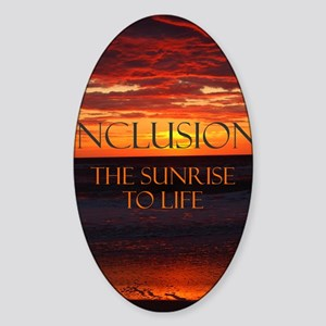 sunrise-a Sticker (Oval)